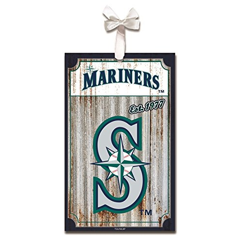 Seattle Mariners Hanging (Seattle Mariners, Metal Corrugate Ornament)