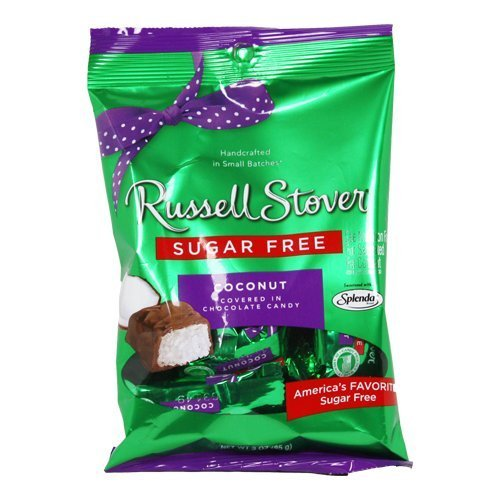 Russell Stover Sugar Free Chocolate Candy Coconut, 3 oz bag (3 Pack) by Russell Stover