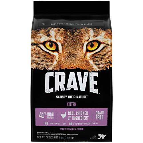 Crave Kitten Dry Cat Food With Protein From Chicken, 4 Pound Bag