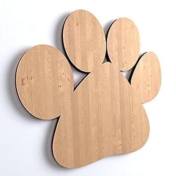10x hundepfote tiere form holz basteln bemalen dekoration hund dog - Holzbasteln
