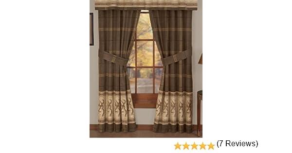 Amazon.com: Browning Buckmark - Rod Pocket Curtains - 42 x 84 ...