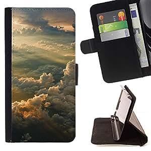 Momo Phone Case / Flip Funda de Cuero Case Cover - Sunset Sky;;;;;;;; - Samsung Galaxy J1 J100