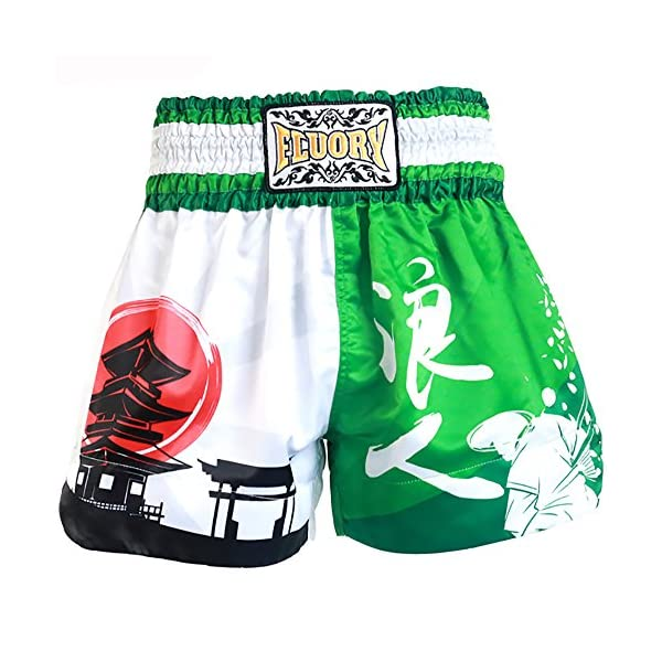 Fluory Muay thai shorts Kick Boxing Fighting Shorts of 100/% polyester material