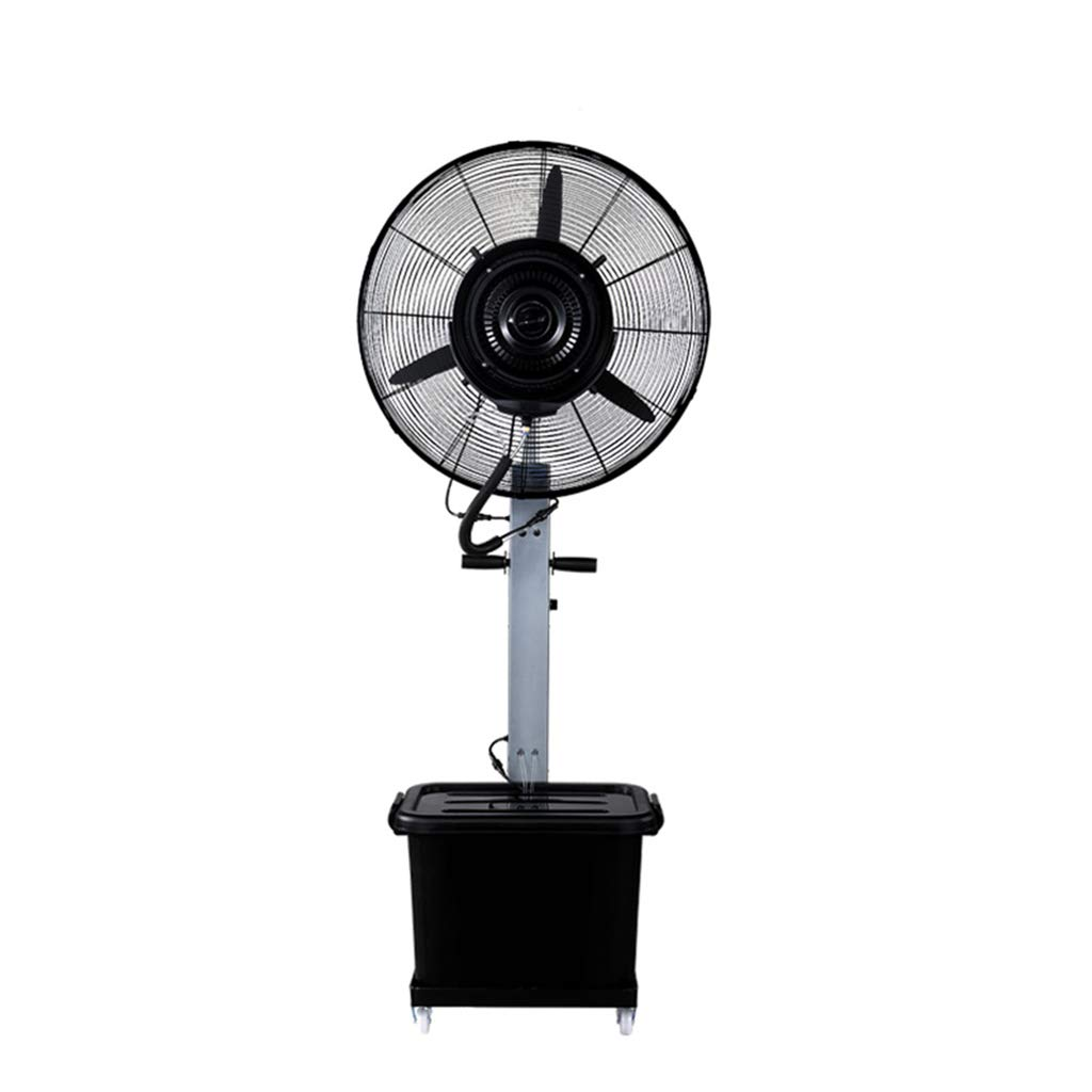 Pedestal Fan Silent Space-Saving Spray Industrial Electric Floor Standing Oscillating Rotating Simple and Easy to Assemble Water Capacity: 43L by LIYIN-Fan