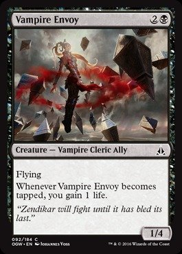 Magic: the Gathering - Vampire Envoy (092/184) - Oath of the Gatewatch