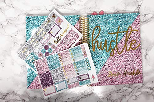 Interchangeable Planner Cover custom name with sticker kit by DEK Designs