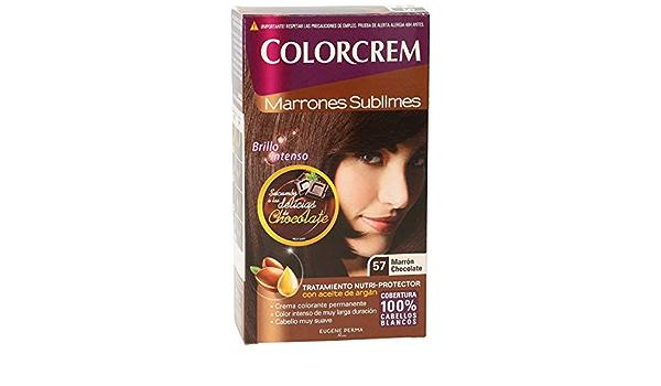 COLORCREM tinte Marrón Chocolate Nº 57 caja 1 ud: Amazon.es ...