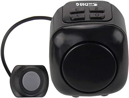 Ultra-loud Speaker Black Electronic Bicycle 6 Sound Alarm Bells Bike Siren Horn