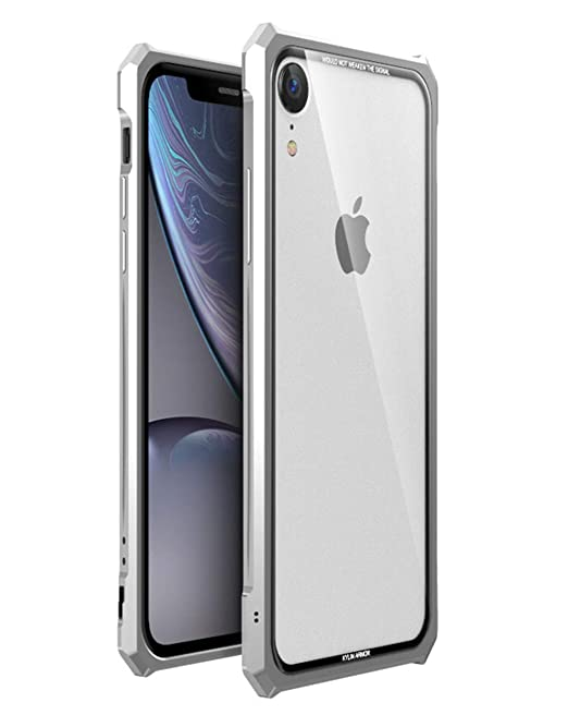 check out d6434 d2eb4 Amazon.com: HIKERCLUB iPhone XR Case Luxury Aluminum Metal Bumper ...