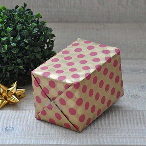 Rotolo di carta da regalo 50/cm X 50/meter/ ecologico /Fabricio Rosso//Arancione carta riciclata