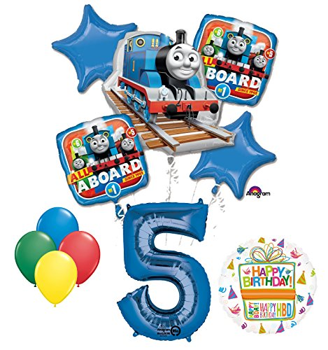 The Ultimate Thomas the Train Engine 5th Birthday Party Supplies and Balloon Decorations -