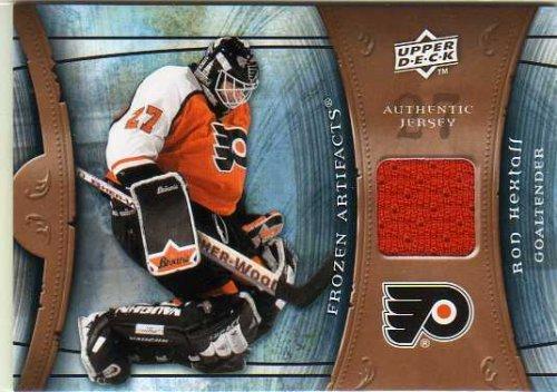 Flyers Game Card - 2009-10 Artifacts Frozen Artifacts Retail #FARRH Ron Hextall Game-Worn Jersey Card - Flyers
