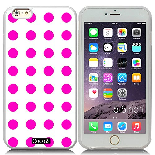 New Apple iPhone 6 s Plus 5.5-inch CocoZ® Case Beautiful lovely wave point TPU (Rose Pink point & Transparent TPU (Ninja Turtles Who Is Who)