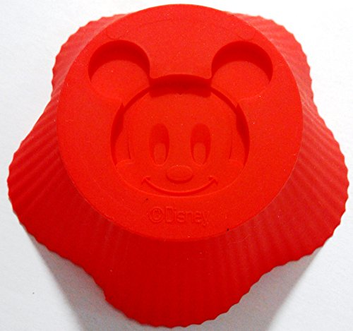 Authentic Mickey Mouse Silicone Muffin Baking Cup Cupcake Liners Set of 6 (Disney Cupcake Maker compare prices)