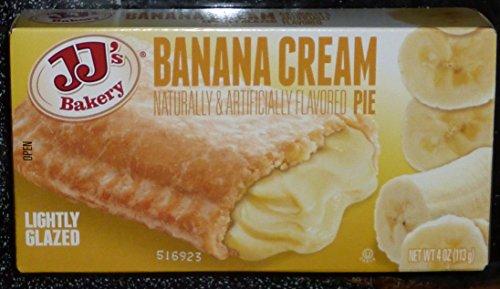 (JJ's Bakery Lightly Glazed Snack Pies 4oz (Pack of 12) (Banana Cream) …)