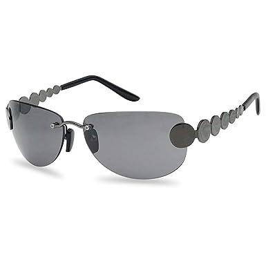 Amazon.com: Gafas de sol con lentes negras sin borde de los ...
