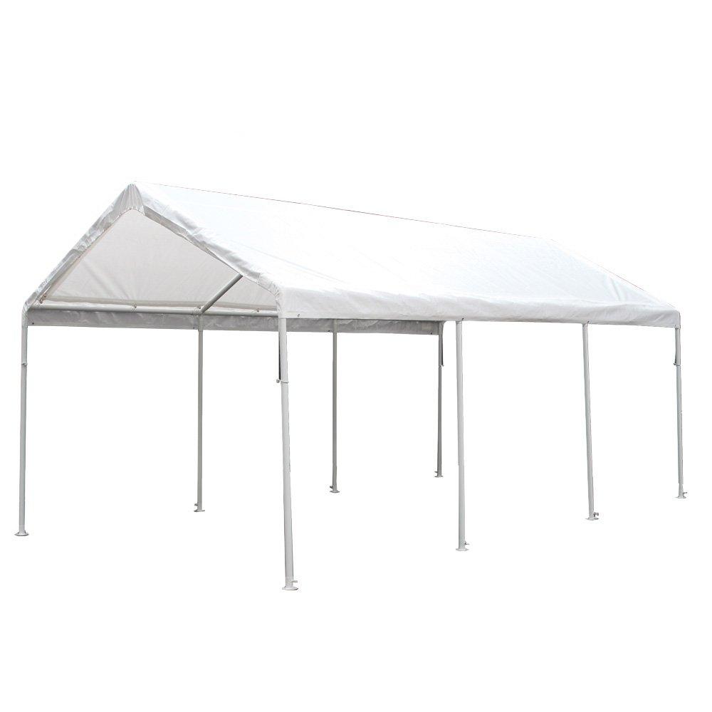 amazoncom king canopy hc1020pc 10feet by 20feet hercules 8leg canopy white outdoor canopies patio lawn u0026 garden