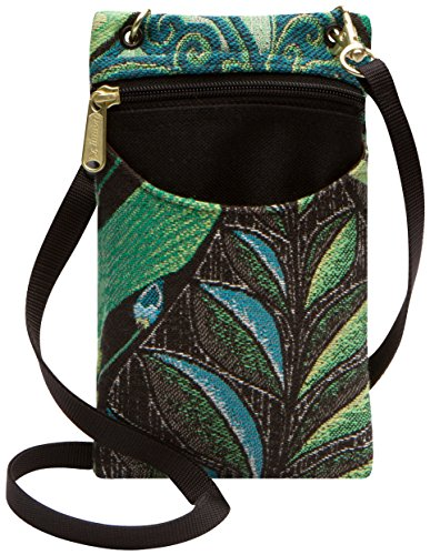 (Danny K Women's Tapestry Crossbody Cell Phone or Passport Purse, Handmade in USA)