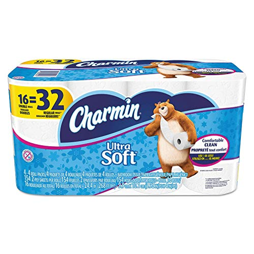 Charmin Ultra Soft Bathroom Tissue, 16 Count (Double Roll 142ct - 16 Rolls)