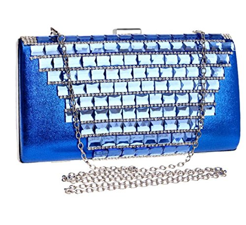 Clubs Party Rhinestone Bridal Women Gift For Wedding Handbag Clutch Ladies Shoulder Glitter Evening Bag Sequin Bag Blue Prom Purse Envelope wYYSx6Faq7