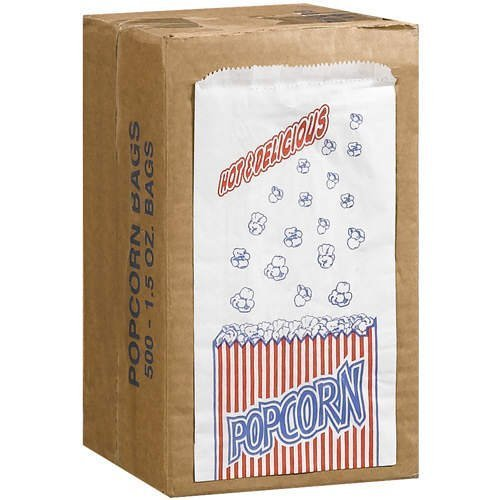 Great Northern Popcorn Company 1-1/2-Ounce Duro Bag Popcorn Bags, Case of 500 -
