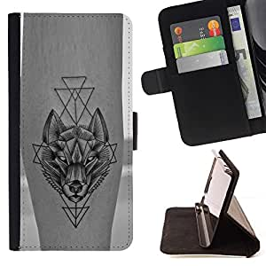 Momo Phone Case / Flip Funda de Cuero Case Cover - Tatouage liberté de la peau d'encre - Samsung Galaxy S6 Edge Plus / S6 Edge+ G928