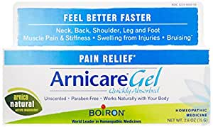 Boiron Arnica Gel for Pain Relief, 2.6 Ounce. Topical Analgesic for Neck Pain, Back Pain, Shoulder Pain, Leg and Foot Pain, Muscle Pain, Joint Pain Relief, Arthritis.Natural Active Ingredient
