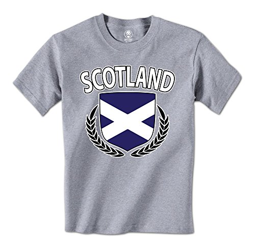 Hockey Wreath (Scotland Flag Crest Olive Wreath Scottish Pride Mens T-Shirt (XXL Light Gray))