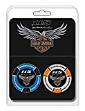 Harley-Davidson 115th Anniversary Collector's Poker Chip Packs, Blue & Gray 671