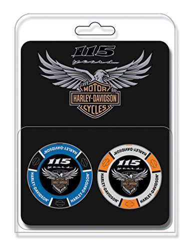 Harley-Davidson 115th Anniversary Collector's Poker Chip Packs, Blue & Gray 671 by Harley-Davidson
