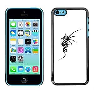PC/Aluminum Funda Carcasa protectora para Apple Iphone 5C Black White Tattoo Ink Art / JUSTGO PHONE PROTECTOR