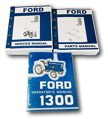 Diagnostic & Test Tools Ford 1300 Tractor Service Parts Operators ...