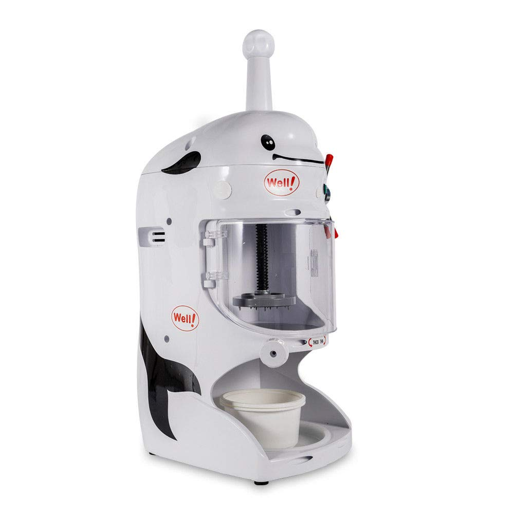Shaved Ice Machines, 18KG 110V Commercial Snow Ice Block Shaving Machine Ice Crusher Shaved Ice Machine Snow Cone Machine Electric Shaved Ice Machine Snow Cone Shaver Ice 760 * 490 * 380mm, US STOCK by Feiuruhf (Image #3)