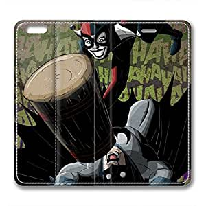 iCustomonline Leather Case for iPhone 6, Joker and Harley Quinn Ultimate Protection Leather Case for iPhone 6 hjbrhga1544