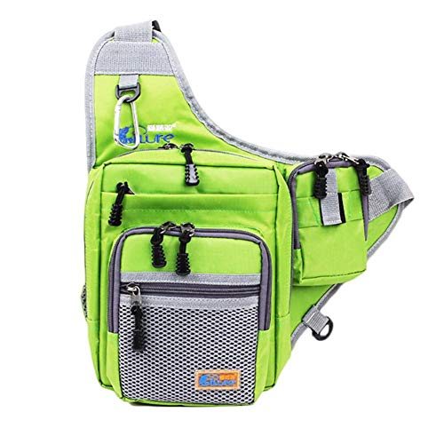 - Bobioy Fishing Chest Waist Wader Lure Bag Fly Fishing Asscessories Storage Bag(Green)