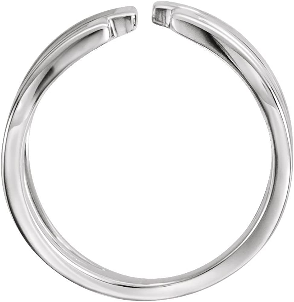FB Jewels 925 Sterling Silver Negative Space Ring Size 7