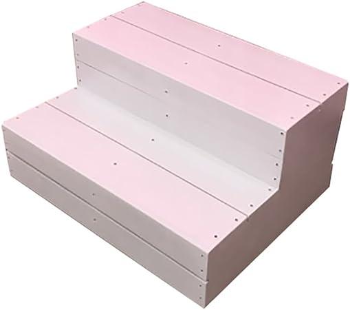 XiaoXIAO Escalera de madera de la cocina Escaleras de taburetes para adultos y niños Artículos para el hogar Taburetes de pies pequeños portátiles Banco de zapatos Rejilla de jardín Reposapiés de inte: