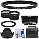 Precision Design FA-DC67A Adapter Ring (67mm) with Tele & Wide Lenses + Kit for Canon PowerShot SX50, SX60, SX70, SX520, SX530, SX540 HS
