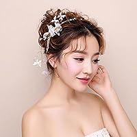 LYM &Headwear Guirnalda de flores tocado nupcial boda