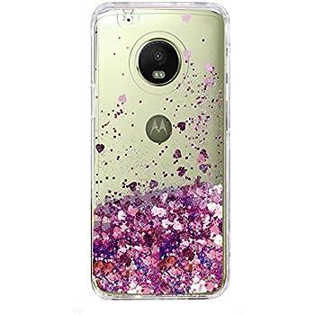 motorola e4 phone case. moto e4 case, skmy liquid glitter sparkle girl women cute clear tpu+shockproof hard motorola phone case e