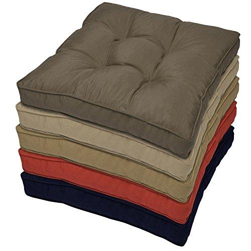 Outdoor Lounge-Kissen - Anthrazit 60x60x10 cm - wasserabweisendes Sitz-Kissen - Polster für Rattan-, und Gartenmöbel