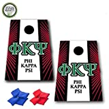 VictoryStore Cornhole Games - Phi Kappa Psi Cornhole Bag Toss Game - Starburst and Stripe - 8 Bags Included