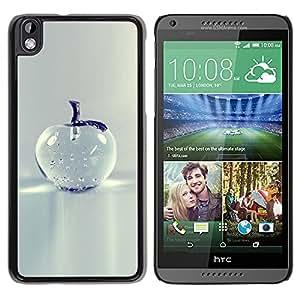 YOYOYO Smartphone Protección Defender Duro Negro Funda Imagen Diseño Carcasa Tapa Case Skin Cover Para HTC DESIRE 816 - manzana de cristal minimalista bastante gris