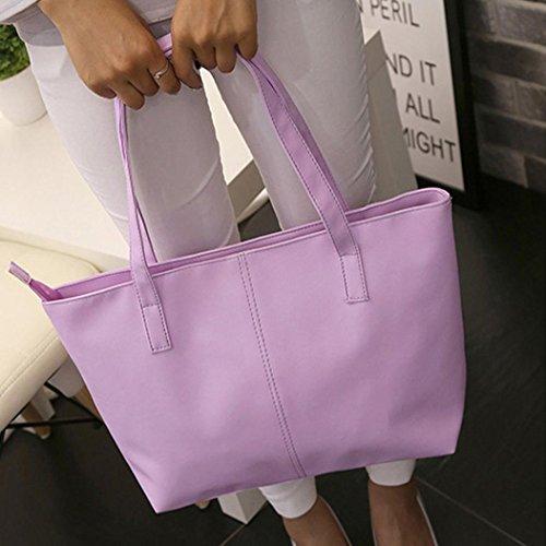 ✦JiaMeng de de Bag Shopper Tote Hombro Bolso Grandes Mano Bolso Bolsos Mujer Bandolera Púrpura Bolso Bolsa EXRBqEfw