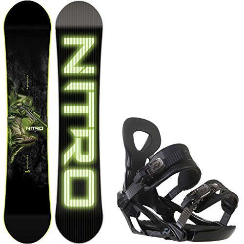 Nitro Marcus Kleveland Pro Model 142cm Youth Snowboard + Ride LX Bindings - Fits US Boots Sized: 5,6,7,8 - Youth Snowboard Packages