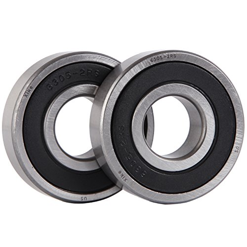 XiKe 2 Pack 6305-2RS Bearings 25x62x17mm, Stable Performance and Cost-Effective, Double Seal and Pre-Lubricated, Deep Groove Ball (17mm Bearing)