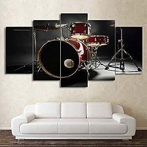 mmwin Poster Modular Home Decor Work 5 PieceMusic Drumkit HD ...