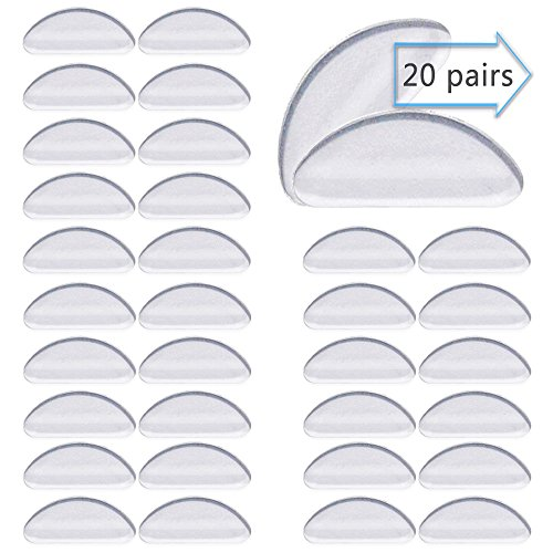yeglasses Nose Pads Glasses Adhesive Silicone Anti-Slip Nosepads for Glasses Eyeglasses Sunglasses(Clear) ()