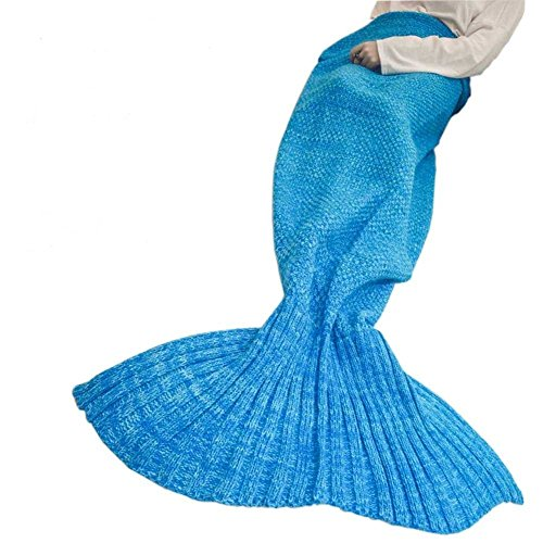 Pengma Mermaid Tail Blanket Crochet Mermaid Blanket for Adult,Summer Super Soft Sleeping Bags