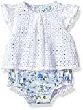 6 month mud pie - Mud Pie Baby Girls Eyelet and Floral One Piece Crawler, White, 3-6 Months